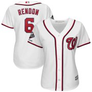 Wholesale Cheap Washington Nationals #6 Anthony Rendon Majestic Women's 2019 World Series Champions Home Official Cool Base Bar Patch Player Jersey White
