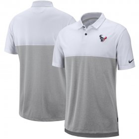Wholesale Cheap Houston Texans Nike Sideline Early Season Performance Polo White Gray