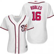 Wholesale Cheap Nationals #16 Victor Robles White Home Women's Stitched MLB Jersey