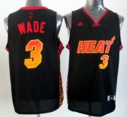 Wholesale Cheap Miami Heat #3 Dwyane Wade 2012 Vibe Black Fashion Jersey