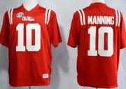 Wholesale Cheap Ole Miss Rebels #10 Eli Manning 2013 Red Jersey