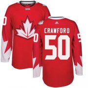 Wholesale Cheap Team Canada #50 Corey Crawford Red 2016 World Cup Stitched Youth NHL Jersey
