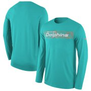 Wholesale Cheap Miami Dolphins Nike Sideline Seismic Legend Long Sleeve T-Shirt Aqua