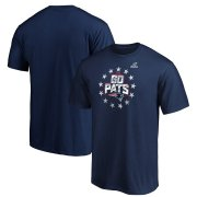 Wholesale Cheap New England Patriots 2019 NFL Playoffs Bound Hometown Checkdown T-Shirt Navy