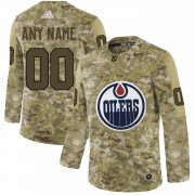 Wholesale Cheap Men's Adidas Oilers Personalized Camo Authentic NHL Jersey