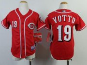 Wholesale Cheap Reds #19 Joey Votto Red Cool Base Stitched Youth MLB Jersey