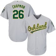 Wholesale Cheap Athletics #26 Matt Chapman Grey New Cool Base Stitched MLB Jersey
