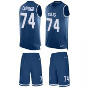 Wholesale Cheap Nike Colts #74 Anthony Castonzo Royal Blue Team Color Men's Stitched NFL Limited Tank Top Suit Jersey