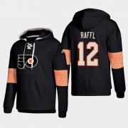 Wholesale Cheap Philadelphia Flyers #12 Michael Raffl Black adidas Lace-Up Pullover Hoodie