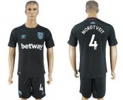 Wholesale Cheap West Ham United #4 Nordtveit Away Soccer Club Jersey