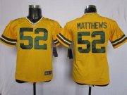 Wholesale Cheap Nike Packers #52 Clay Matthews Yellow Alternate Youth Stitched NFL Elite Jersey