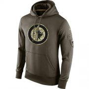 Wholesale Cheap Men's Winnipeg Jets Nike Salute To Service NHL Hoodie