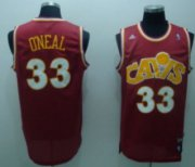 Wholesale Cheap Cleveland Cavaliers #33 Shaquille O'neal CavFanatic Red Swingman Throwback Jersey