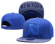Wholesale Cheap NHL New York Rangers Team Logo Blue Mitchell & Ness Adjustable Hat