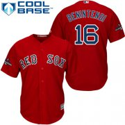 Wholesale Cheap Red Sox #16 Andrew Benintendi Red New Cool Base 2018 World Series Champions Stitched MLB Jersey