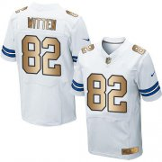 Wholesale Cheap Nike Cowboys #82 Jason Witten White Men's Stitched NFL Elite Gold Jersey