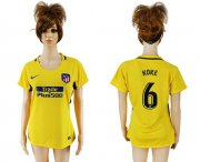 Wholesale Cheap Women's Atletico Madrid #6 Koke Away Soccer Club Jersey