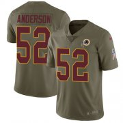 Wholesale Cheap Nike Redskins #52 Ryan Anderson Olive Youth Stitched NFL Limited 2017 Salute to Service Jersey