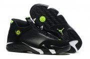 Wholesale Cheap Air Jordan 14 Indiglo Black/White-Green