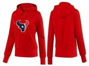 Wholesale Cheap Women's Houston Texans Logo Pullover Hoodie Red