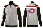 Wholesale Cheap NHL Montreal Canadiens Zip Jackets Grey