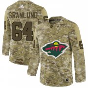 Wholesale Cheap Adidas Wild #64 Mikael Granlund Camo Authentic Stitched NHL Jersey