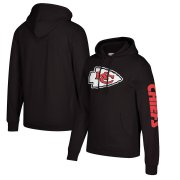 Wholesale Cheap Kansas City Chiefs Mitchell & Ness Classic Team Pullover Hoodie Black