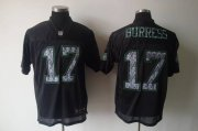 Wholesale Cheap Sideline Black United Jets #17 Plaxico Burress Black Stitched NFL Jersey