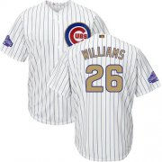 Wholesale Cheap Cubs #26 Billy Williams White(Blue Strip) 2017 Gold Program Cool Base Stitched MLB Jersey