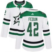 Cheap Adidas Stars #42 Taylor Fedun White Road Authentic Women's Stitched NHL Jersey