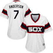 Wholesale Cheap White Sox #7 Tim Anderson White Alternate Home Women's Stitched MLB Jersey
