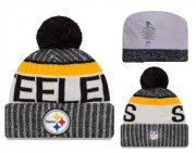Wholesale Cheap NFL Pittsburgh Steelers Logo Stitched Knit Beanies 010