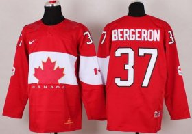 Wholesale Cheap Olympic 2014 CA. #37 Patrice Bergeron Red Stitched NHL Jersey