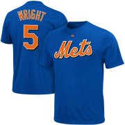 Wholesale Cheap New York Mets #5 David Wright Majestic Official Name and Number T-Shirt Royal