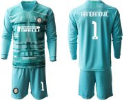 Wholesale Cheap Inter Milan #1 Handanovic Light Blue Goalkeeper Long Sleeves Soccer Club Jersey