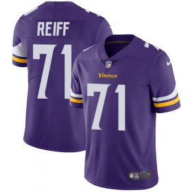 Wholesale Cheap Nike Vikings #71 Riley Reiff Purple Team Color Men\'s Stitched NFL Vapor Untouchable Limited Jersey