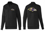 Wholesale Cheap NFL Baltimore Ravens Team Logo Jacket Black_1