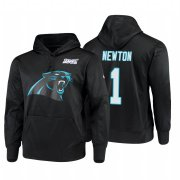 Wholesale Cheap Carolina Panthers #1 Cam Newton Nike NFL 100 Primary Logo Circuit Name & Number Pullover Hoodie Black