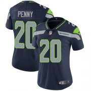 Wholesale Cheap Nike Seahawks #20 Rashaad Penny Steel Blue Team Color Women's Stitched NFL Vapor Untouchable Limited Jersey
