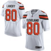 Wholesale Cheap Nike Browns #80 Jarvis Landry White Men's Stitched NFL Elite Jersey