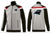 Wholesale Cheap NFL Carolina Panthers Team Logo Jacket Grey
