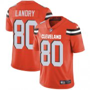 Wholesale Cheap Nike Browns #80 Jarvis Landry Orange Alternate Men's Stitched NFL Vapor Untouchable Limited Jersey