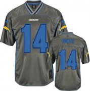 Wholesale Cheap Nike Chargers #14 Dan Fouts Grey Youth Stitched NFL Elite Vapor Jersey