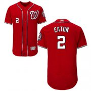 Wholesale Cheap Nationals #2 Adam Eaton Red Flexbase Authentic Collection Stitched MLB Jersey