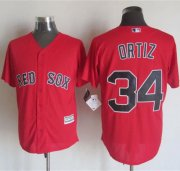 Wholesale Cheap Red sox #34 David Ortiz Red New Cool Base Stitched MLB Jersey