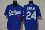 Wholesale Cheap Los Angeles Dodgers #8 #24 Kobe Bryant Men's Nike Royal Cool Base 2020 KB Patch MLB Jersey