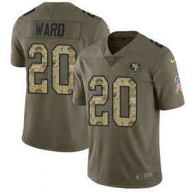 Wholesale Cheap Nike 49ers #20 Jimmie Ward Olive/Camo Men\'s Stitched NFL Limited 2017 Salute To Service Jersey