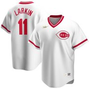 Wholesale Cheap Cincinnati Reds #11 Barry Larkin Nike Home Cooperstown Collection Player MLB Jersey White