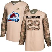 Wholesale Cheap Adidas Avalanche #29 Nathan MacKinnon Camo Authentic 2017 Veterans Day Stitched Youth NHL Jersey