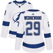 Cheap Adidas Lightning #29 Scott Wedgewood White Road Authentic Women's Stitched NHL Jersey